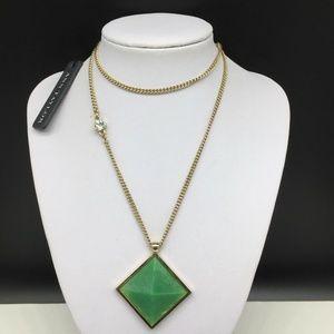 NEW Ann Taylor Green Acrylic Pendant Necklace